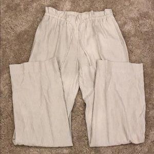 Armani Collezioni silk blend pants